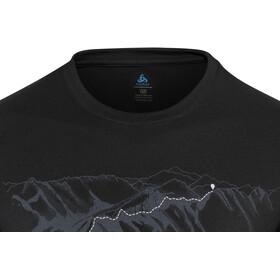 Odlo BL Alliance Maglia girocollo a maniche lunghe Uomo, black-mountain print ss19